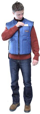 RefrigiWear 0599 Cooler Wear Insulated Work Vest - Chest Pocket