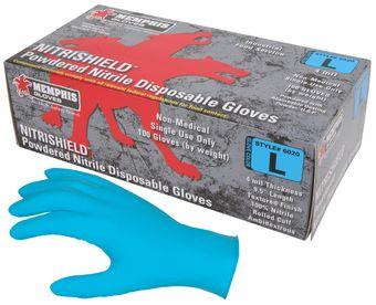 MCR Safety NitriShield Nitrile Disposable Powdered Gloves 6020