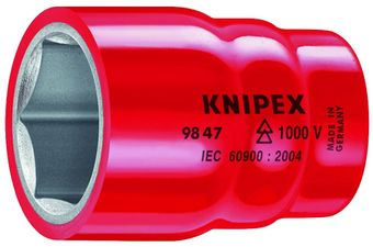 "Knipex Tools Inch-Sized Insulated Hexagon Sockets For 1/2"" Driver"