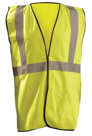 Occunomix ECO-G High Visibility Solid Standard Vest Front Yellow