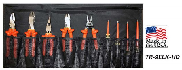 Cementex TR-9ELK-HD Insulated Heavy Duty Electrician's Kit, 9PC