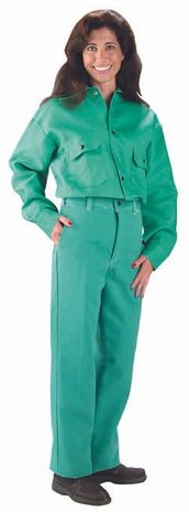 Chicago Protective 9 oz Green Proban Fire Resistant Pants