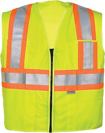 OK-1 Safety Vests 5050503, 5050504 - DISCONTINUED Fluorescent Lime