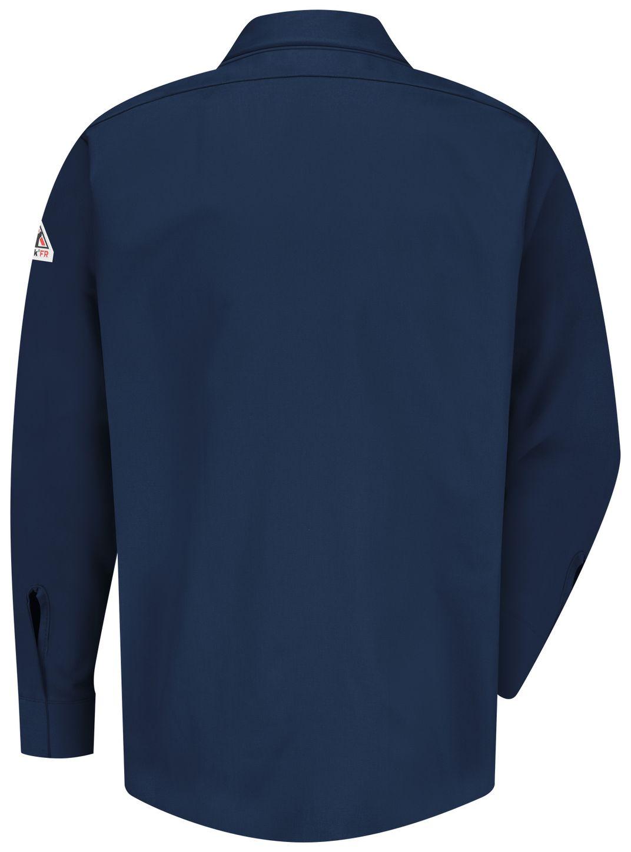 bulwark-fr-shirt-sms2-nv-midweight-pocketless-consealed-gripper-work-navy-back.jpg