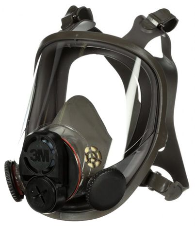 3M 6000 Series Full Face Respirator with DIN Port - 6700DIN Right