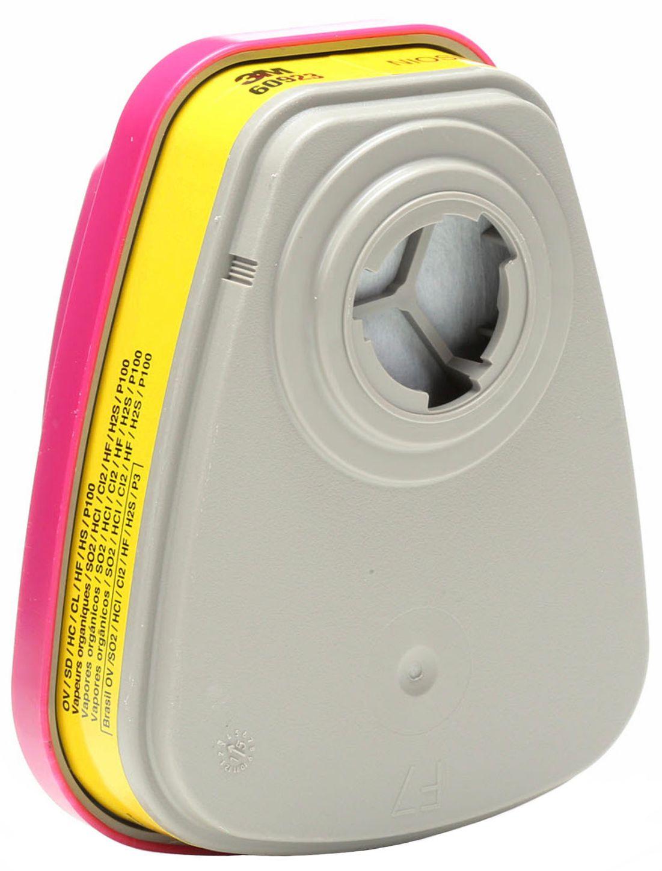 3M 60923 Organic Vapor/Acid Gas Cartridges with P100 Filter Back