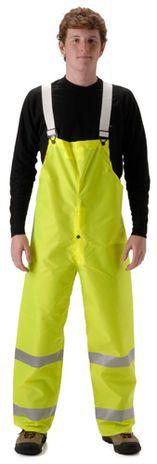 nasco worklite yellow hi viz lightweight tear resistant foul weather bibs