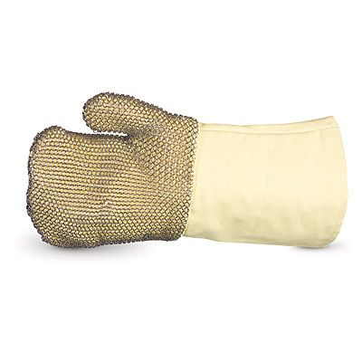 Superior Dragon R800GMM Extreme High Heat Kevlar Mittens with Stainless Steel Mesh