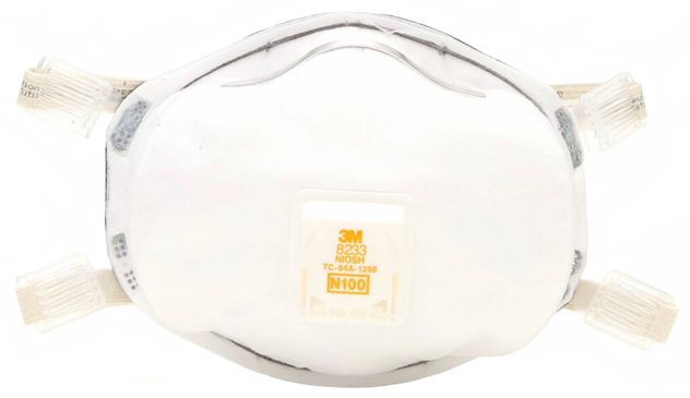 3M Particulate Respirators 8233 - N100 Front