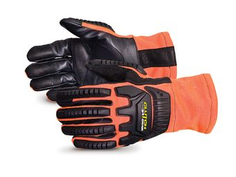 Superior Hi-Viz Anti-Impact MXVSBFR Mechanics Gloves