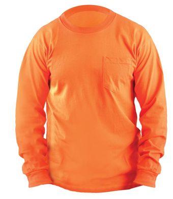 Occunomix LUX-300LP Hi-Viz Classic Cotton Long Sleeve T-shirt Front