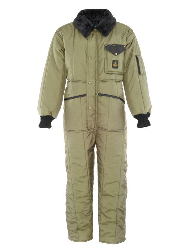 Refrigiwear 0344 Iron Tuff Insulated Work Coverall Front View Sage