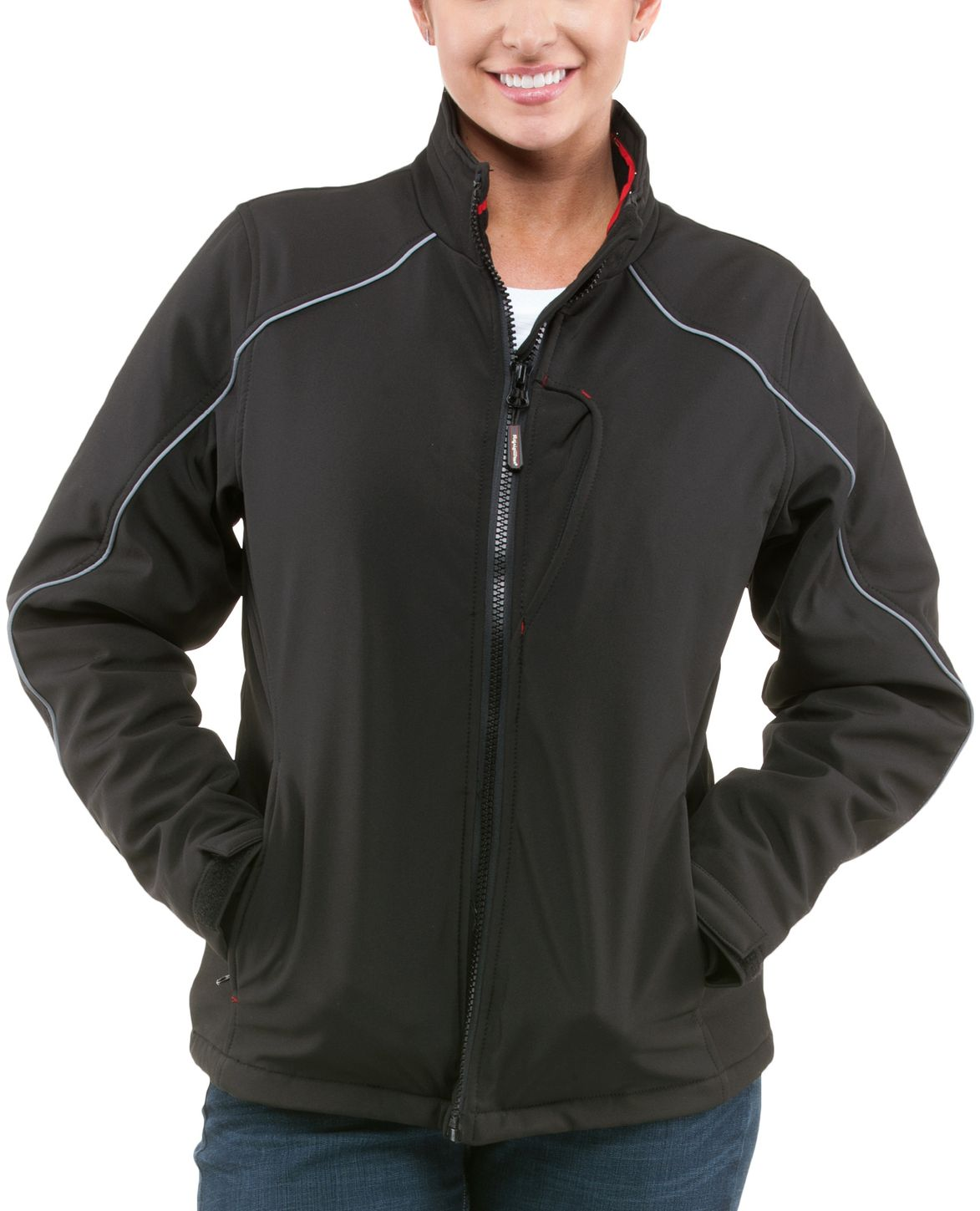 RefrigiWear 0493 Softshell Womens Winter Work Jacket Example Front