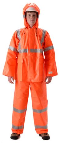 nasco arclite hi viz arc flash orange rain suit