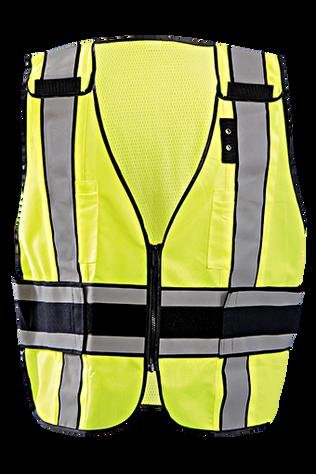 Occunomix LUX-DPS-DOR Deluxe Solid/Mesh Break-Away Public Safety Vest w/DOR, Plain Front