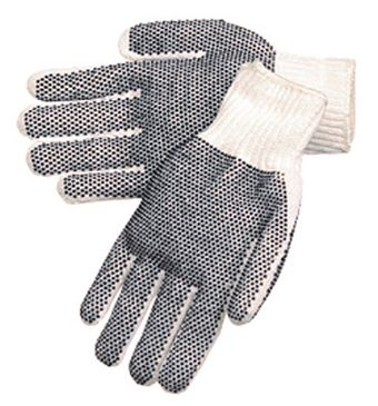 Liberty P4715Q Two-Sided Economy Black PVC Dotted Gloves