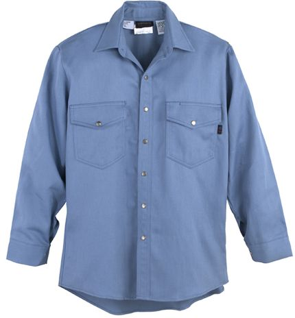 Workrite 7 oz Indura Long Sleeve Western-Style Shirt 228ID70