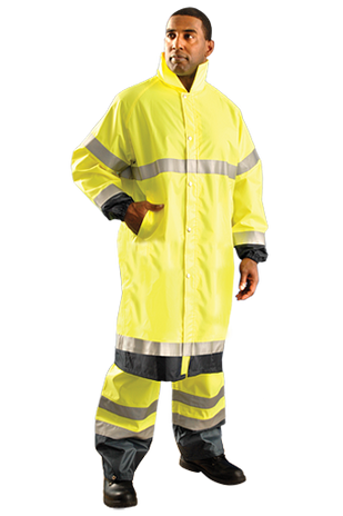 Occunomix LUX-TJRE High Visibility Breathable Rain Jacket Long Example