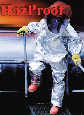 Tingley 82330 Boots in Use - with Aluminized Chemical Suit