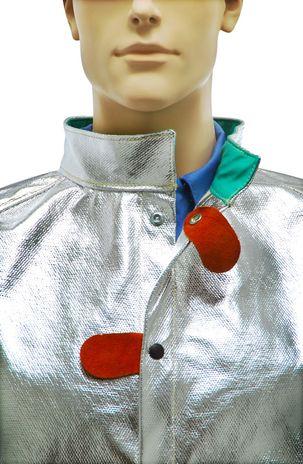 Otterlayer aluminized jacket or coat band collar detail C11-ACF