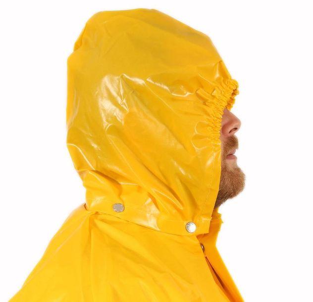 Tingley Iron Eagle® Chemical Resistant Detachable Hood - Polyurethane Coated Gold Side