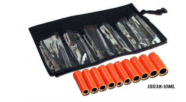 "Cementex ISS38-14ML Insulated 3/8"" Square Drive Deep Socket Set, 14PC"
