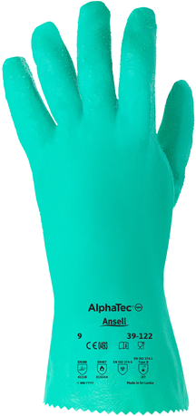 Ansell Sol-Knit Premium Gauntlets 39-122 - Nitrile Coated & Interlock Lined Back
