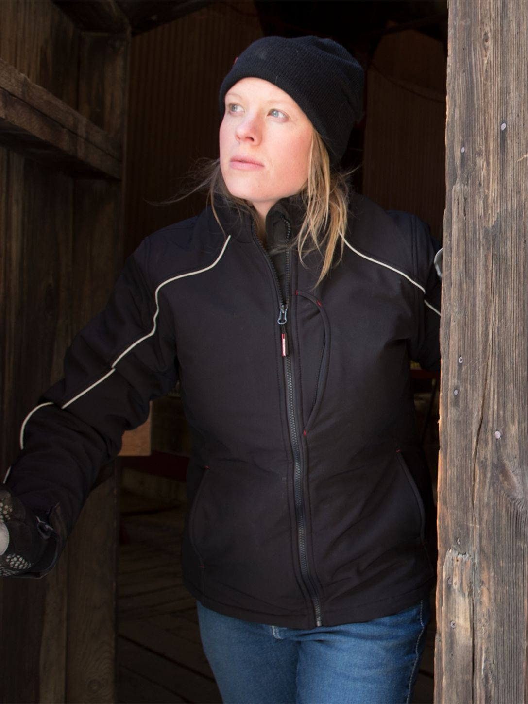 RefrigiWear 0493 Softshell Womens Winter Work Jacket Example
