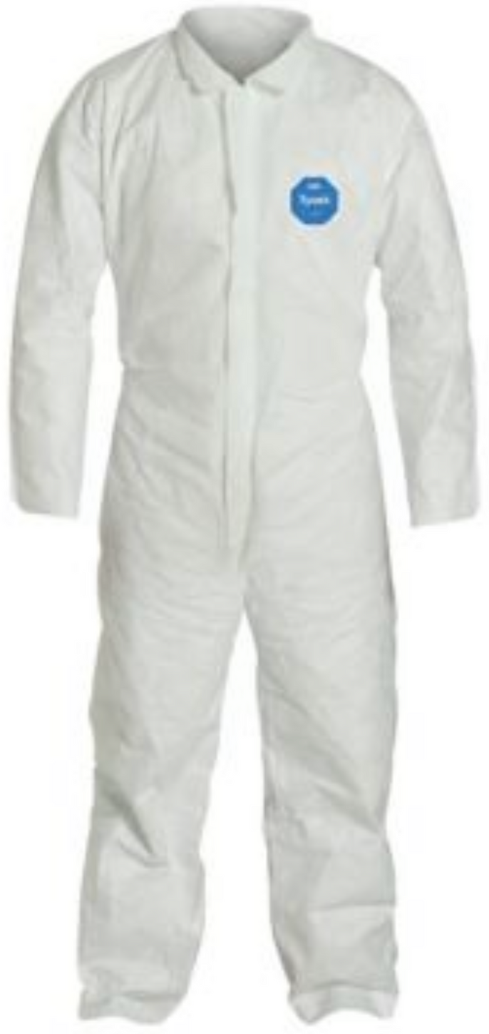 DuPont Tyvek Coverall with Collar - Open Wrists and Ankles - TY120SWH Front