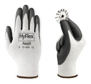 Ansell Hyflex Cut Resistant Work Gloves 11-624 - PU Coated Dyneema