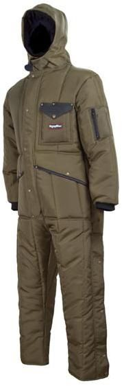 RefrigiWear Cold Weather Apparel - Iron-Tuff™ Minus 50 Suit With Hood 0381 - Sage