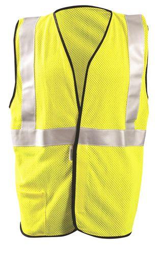 Occunomix LUX-SSGC/FR Hi-Viz Premium Flame Resistant Single Stripe Mesh vest Front