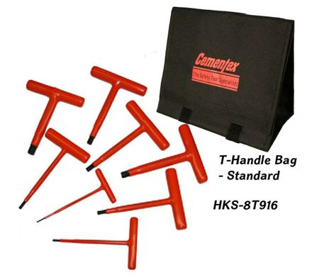 Cementex HKS-8T916 Insulated T-handle Hex Wrench Set, 8PC
