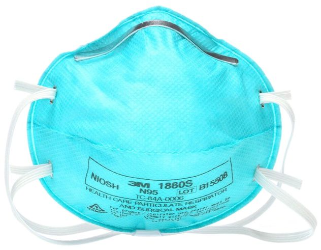 3M Surgical Particulate Respirator 1860S - N95 Front