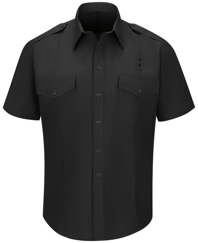 Workrite FR Fire Chief Shirt FSC2 Classic Short Sleeve Black Front