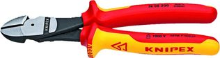 "Knipex Tools 74 08 200 US Insulated 8"" High Leverage Diagonal Cutters"
