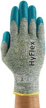 Ansell HyFlex Aramid Work Gloves 11-501 - Foam Nitrile, Stretch Armor, Cut Protection
