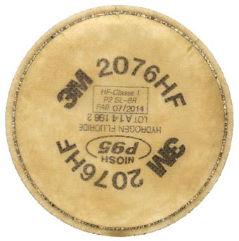 3M 2076HF Series Particulate Filters - P95 - Acid Gas & Fluoride Relief Front