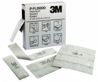 3M Petroleum Sorbent Folded Sheets - High Capacity P-FL550DD