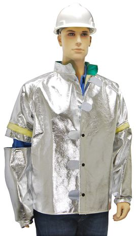 Otterlayer aluminized jacket removable sleeves front sleeve connection detail C13-ACF