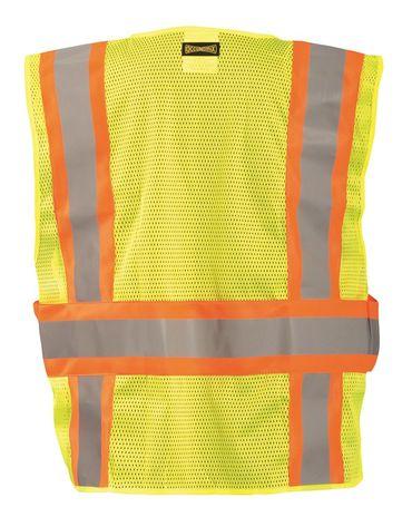 Occunomix LUX-SC2TB Hi-Viz Mesh Two-Tone Expandable Break Away Vest Back
