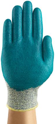Ansell HyFlex Aramid Work Gloves 11-501 - Foam Nitrile, Stretch Armor, Cut Protection Back