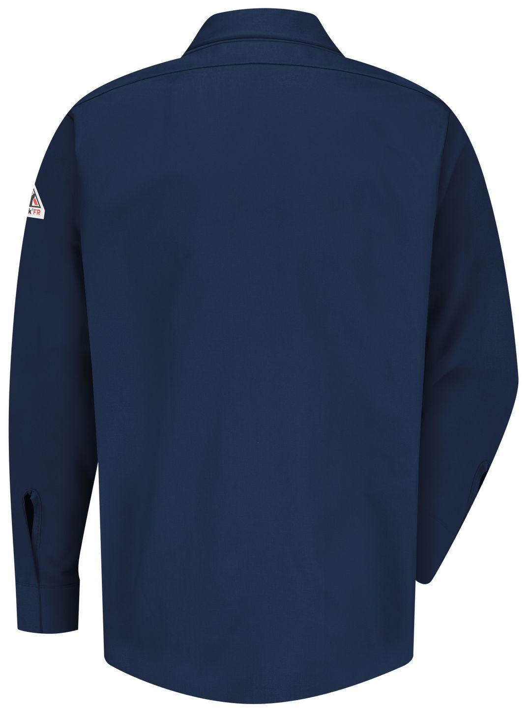 bulwark-fr-work-shirt-sls2-midweight-pocketless-concealed-gripper-navy-back.jpg