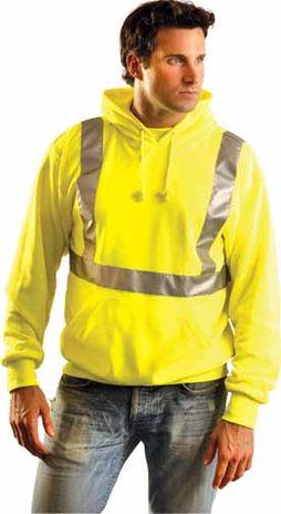 Occunomix LUX-SWTLH Lightweight Hooded Pullover Hi Viz Sweatshirt