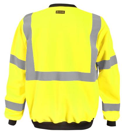 Occunomix LUX-CSWT Crew Neck Sweatshirt Back Yellow