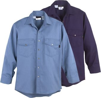 Workrite Fire Resistant Shirt 228ID70/2287 - 7 oz Indura, Long Sleeve Western-Style