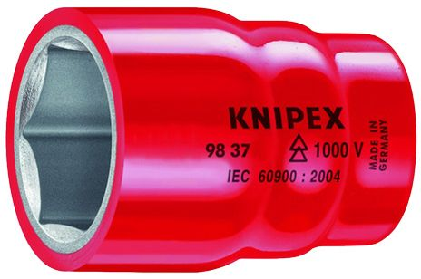 """Knipex Tools Inch-Sized Insulated Hexagon Sockets For 3/8"""" Driver"""