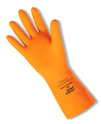 Ansell Orange Heavyweight 208 Unsupported Latex Gloves