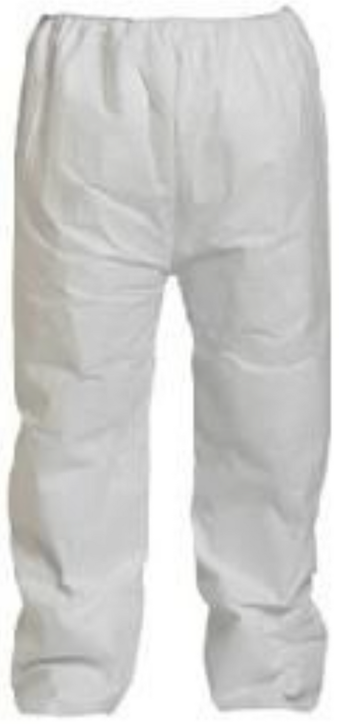 DuPont Tyvek Disposable Pants with Open Ankles & Elastic Waist - TY350SWH Front