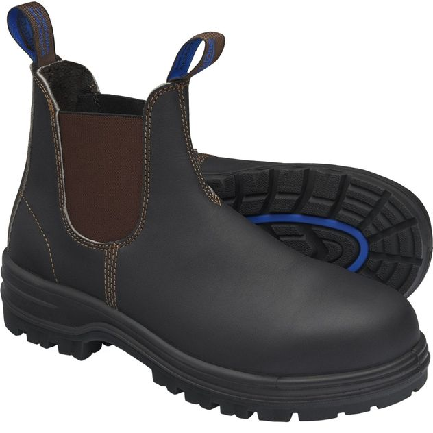 Blundstone 140 XFOOT Elastic Side Slip-On Steel Toe Boots - Water Resistant